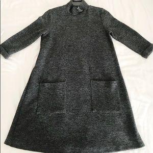High neck sweater dress